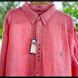 NWT Men's Polo Ralph Lauren Long Sleeve Shirt 2XB